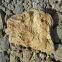 partially vitrified (melted) rock near St Martin of Tours Church, Malta