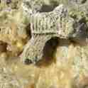 vitrified, vitrification of calcite or limestone or sandstone rock - photograph