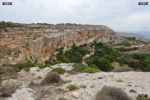 il-fawwara malta underground chapel geology limestone bay cliff face