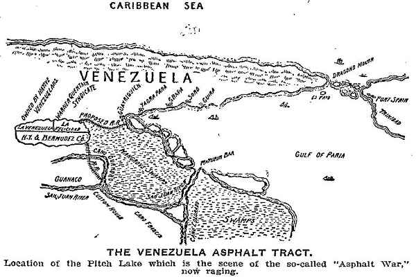 asphalt war 1901 venezuelan conflict guanoco lake bermudez lake pitch lake Largo La Brea